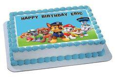 Paw Patrol 6 Edible Birthday Cake Topper OR Cupcake Topper, Decor