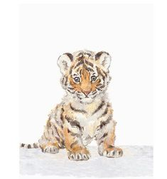 Baby Tiger tiger wall art Animal Print African Animal Art Safari Nursery Art Nursery decor tiger pri is part of Safari Nursery Decor Etsy - safarinurseryprintsafricanbaby ref shop home feat for viewing!