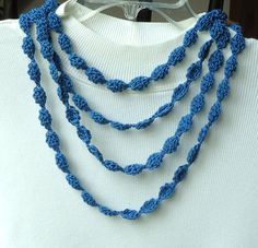 Crocheted Necklace by TwistedFiberDesigns