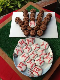 My version from a previous pin. These were for my son's little league baseball party.