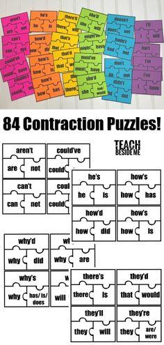 Grammar: Contraction Puzzles