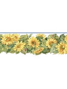 Die Cut Sunflower With Ladybugs Wall Borders