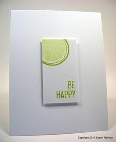 Simplicity: Scraplet Card Says Be Happy