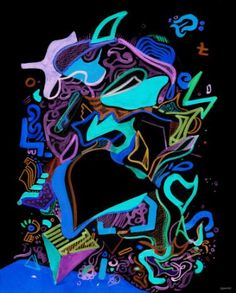 """Saatchi Art Artist dOminic brown; New Media, """"A shark swims in my mind - Limited Edition 1 of 2"""" #art"""