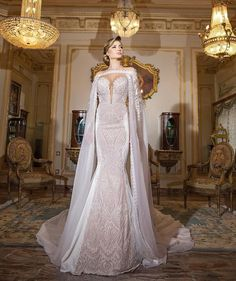 Take your dramatic #wedding gown to new heights with the addition of a…