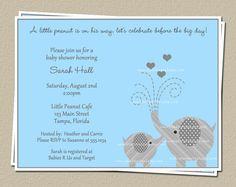 Elephant Baby Shower Invitations Invites for by TheInviteLadyShop