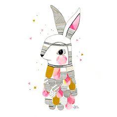 Laura Blythman Miss Rabbit Cushion Cover