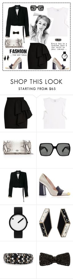 """""""The new trend"""" by zabead ❤ liked on Polyvore featuring Yves Saint Laurent, Iris & Ink, Zadig & Voltaire, Ann Demeulemeester, Rosendahl, Effy Jewelry and Sonia Rykiel"""