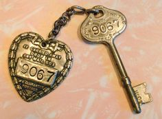 1920s hotel key from the Hotel Rosslyn in Los Angeles, California.