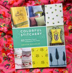 drop cloth: Colorful Stitchery: Review and Giveaway