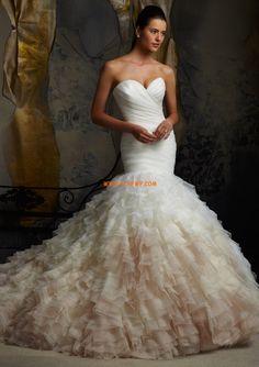 Tule Mouwloos Gelaagd Bruidsmode 2014