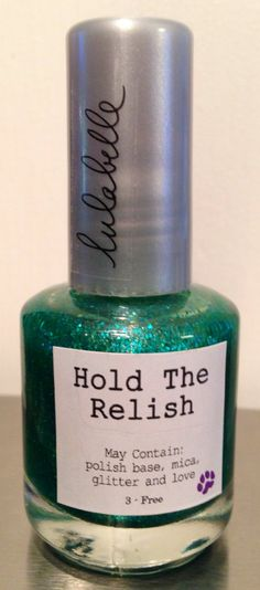 Hold The Relish is a BRAND NEW Lulabelle release for early fall! A beautiful emerald green color, Hold The Relish is quite simply a show stopper. A great stand alone color or used as a topper under a matte green, Hold The Relish is the perfect addition to any polish addicts collection!