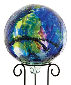Look what I found on #zulily! Blue 10'' Kitras Gazing Ball & Stand #zulilyfinds