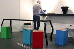 by AnneLiWest|Berlin  #Eigenheimdesign, Tisch Freibein, Hocker Elmar