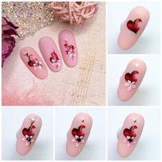 """Ногти / Пошаговые МК / Маникюр on Instagram: """"Если хочешь тоже к нам на страницу , то оставляй смайлик под постом👇 . @nail_muranova . МК ко Дню Св. Валентина❤️ #ногти #ногтидизайн…"""" Valentines Day, Nails, Beauty, Valentine's Day Diy, Finger Nails, Ongles, Beauty Illustration, Nail, Valentine Words"""