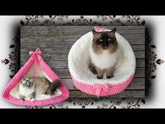 DIY 4 in 1 Häkel Körbchen, Liegemulde, Schaukel für Katzen & Hunde | Crochet for Cat - YouTube
