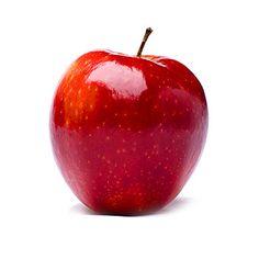 #manzana #Starking son grandes y alargadas, de color rojo oscuro y con la piel muy brillante, su carne es blanca, tierna y con un suave sabor dulce.