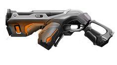 futuristic sci-fi gun
