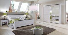 Chateau - 980122 (dub bílý/lava černá) Lava, Inspiration Boards, Toddler Bed, Bench, Bedroom, Storage, Interior, Furniture, Home Decor