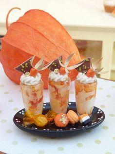 Autumn Sundaes with Sweet Treats - 12th Scale Miniature Food