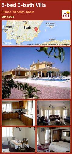 5-bed 3-bath Villa in Pinoso, Alicante, Spain ►€344,950 #PropertyForSaleInSpain