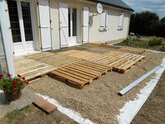 wooden pallet terrace diy