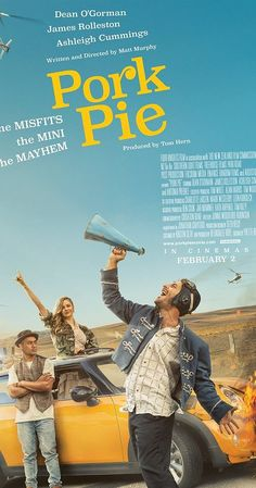 Directed by Matt Murphy. With Dean O'Gorman, James Rolleston, Ashleigh Cummings, Antonia Prebble. Pork Pie tracks the escapades of a trio of accidental outlaws as they travel the length of the New Zealand in a yellow mini, protesting conformity and chasing lost love, with a posse of cops and a media frenzy hot in their pursuit.
