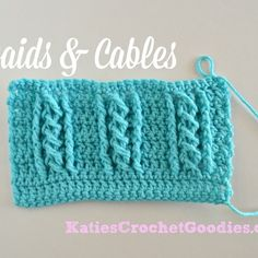 Crochet Me Lovely - Braided Cable Crochet Stitch