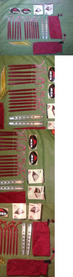 Tent and Canopy Accessories 36120 Msr Groundhog Tent Stakes Lot Of 13 + 4 Gold & Tent and Canopy Accessories 36120: 40 Pack Tent Stakes Pegs Heavy ...