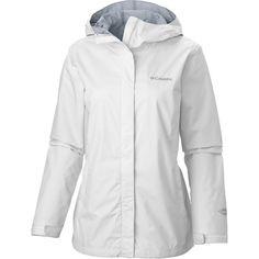 6e29eae2003 Columbia Arcadia II Rain Jacket Women s 1X (16W-18W) Hooded White White   100 NEW