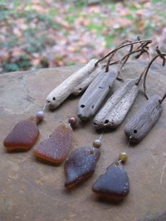 decorating for christmas driftwood | CHRISTMAS ORNAMENT Beach Glass & Driftwood Ornament HOLIDAY Decor. $20 ...