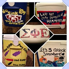 Cooler I made for my Sig Ep boyfriend