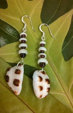 Kauai puka shell and drupe shell earrings by MoonlightMeRaj