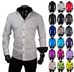 Herren Hemd Hemden Bügelleicht Business Hochzeit Freizeit Slim Fit S M L XL XXL | eBay