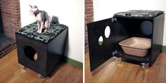 Like this spinning litterbox design.