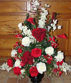 Valentinesfloralarrangements canada flowers valentines silk wedding flower arrangements day red white silk flower arrangement wedding altar vase reception mightylinksfo