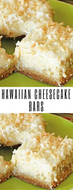 Drop everything and make these Hawaiian Cheesecake Bars as soon as you can, but be warned, you will have to make sure there are people around to share with or you WILL eat the entire Cheesecake Bars, Cheesecake Recipes, Hawaiian Desserts, Hawaiian Recipes, Muffins, Salty Cake, Savoury Cake, Dessert Bars, Christmas Baking