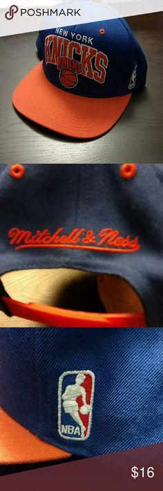 New York Knicks Snap Back Hat New York Knicks Snap Back Hat Mitchell & Ness Accessories Hats