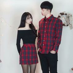 Semi-Formal Style Matching Couple Outfit idea… on Stylevore Matching Couple Outfits, Matching Couples, Cute Couples, Ulzzang Fashion, Asian Fashion, Fashion Fall, Fashion Men, Fashion Trends, Picture Outfits
