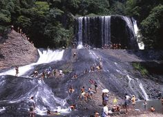 龍門の滝(大分)Ryumon Falls - Kyushu Oita natural water slide