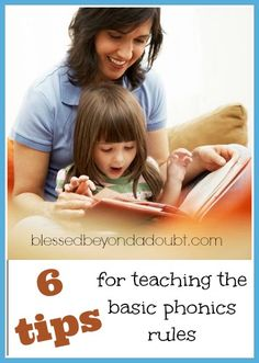 6 Tips to remember when teaching the basic phonics rules!