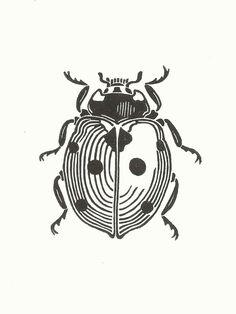 Items similar to Ladybird Linocut Print // Handmade // Original on Etsy Art And Illustration, Illustrations, Art Du Croquis, Lino Art, Posca Art, Linoprint, Desenho Tattoo, Insect Art, Linocut Prints