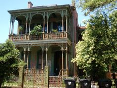 Typical New Orleans Architecture New Orleans Architecture, Louisiana Homes, Gothic House, Victorian Gothic, New Orleans Homes, New Orleans Travel, Brick And Mortar, Gothic Home Decor, Old Barns