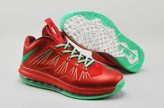 Nike Lebron James 10 Low Red Green Shoes