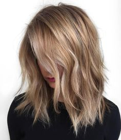 Caramel Blonde Layered Hair