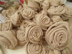 French ... burlap rosettes..pinning for Randi's wedding