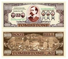 SET OF 5 BILLS-TOMBSTONE (OK CORRAL) MILLION DOLLAR BILL by Novelties Wholesale. $3.99. Special Million Dollar Bill commemorating the Gunfight at the OK Corral! OWN A PART OF HISTORY! Same size as actual currency. Great for resale or use in promotions. A COLLECTIBLE FOR ALL AGES.