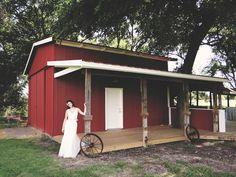 Classic red barn. Beautiful Bride. Country love. Wedding venue in Dallas - Ft. Worth Texas.