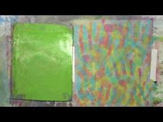 Using Your Hands on the Gelli Plate - YouTube