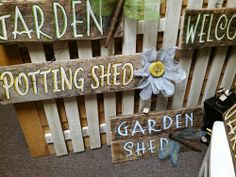 Barn wood signs with screen flowers & dragonflies